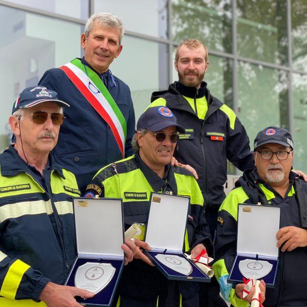 20 anni di Protezione Civile - Mauri Carlo, Palmiotto Giuseppe e Redina Francesco, volontari dal 2001